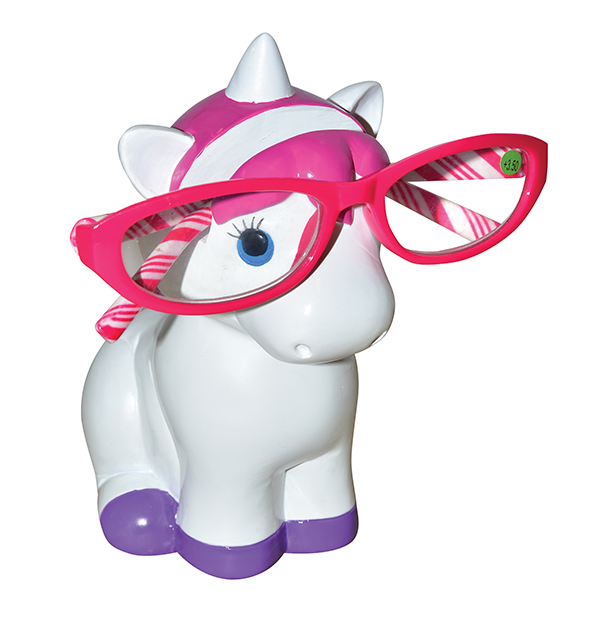 Unicorn Pink and White Eye Glass Holder